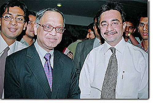 Dr. Jetley with Mr. N.R. Narayana Murthy