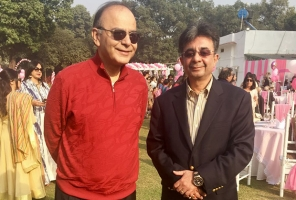 Dr. Jetley with HON'BLE MINISTER OFFINANCE Mr. Arun Jaitley