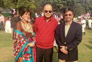 Mrs. and Dr. Jetleywith Mr. Arun Jaitley